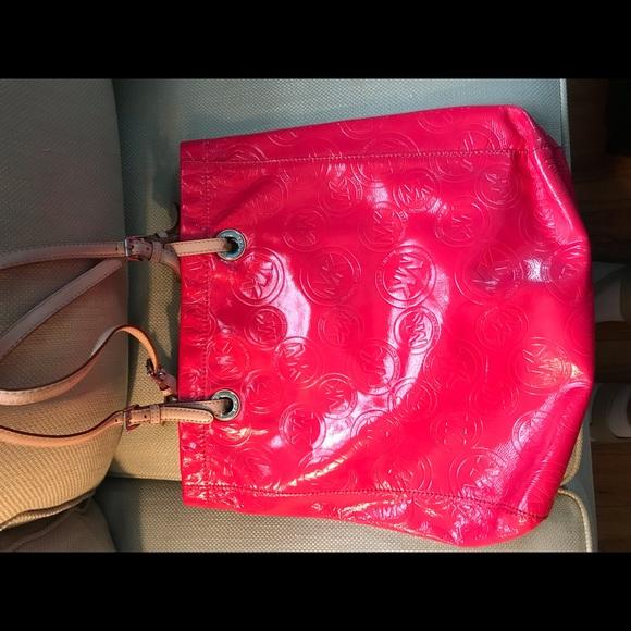 MICHAEL Michael Kors Handbags - Michael by Michael Kors hot pink logo tote